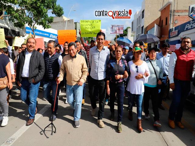 Pueblo de Xoxocotlán respalda triunfo de Alejandro López
