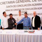 Firman la paz San Martín Peras y Santos Reyes Zochiquilazala