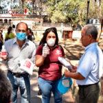 Brinda Ayuntamiento de Oaxaca insumos sanitarios a boleros